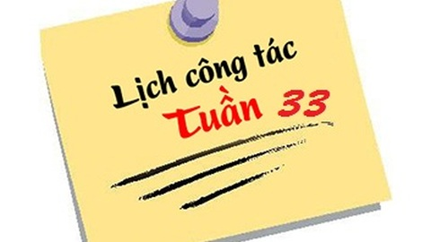 Lịch tuần 33